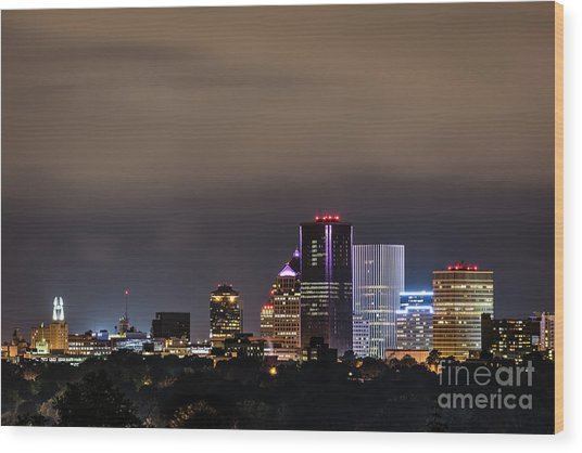 Rochester, Ny Lit Wood Print