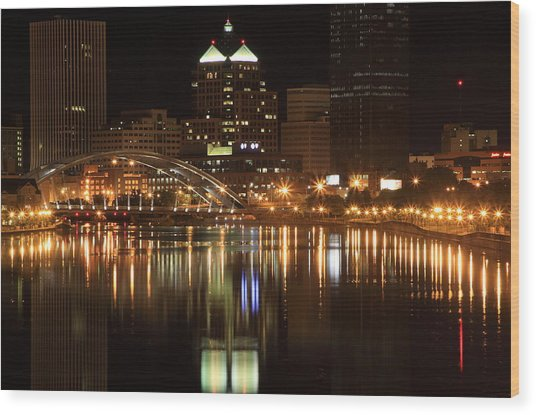 Rochester On The Genesee Wood Print