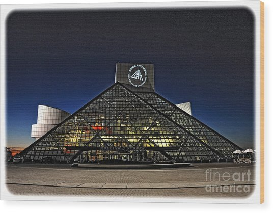 Rock And Roll Hall Of Fame - Cleveland Ohio - 5 Wood Print