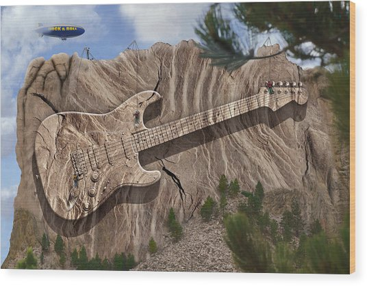 Rock And Roll Park 2 Wood Print