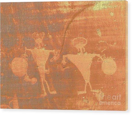 Rock Art - Utah Wood Print