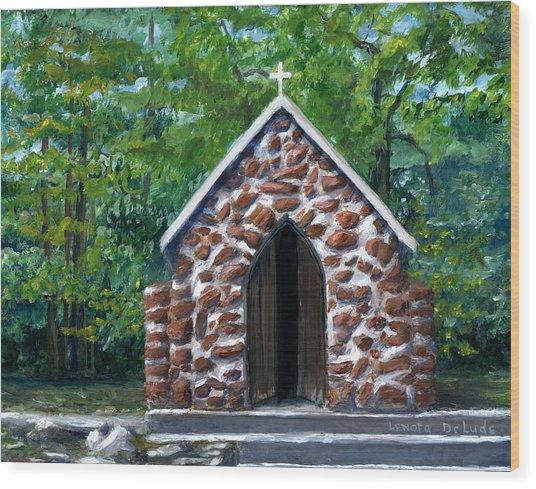 Rock Chapel Desoto Parish, Louisiana Wood Print
