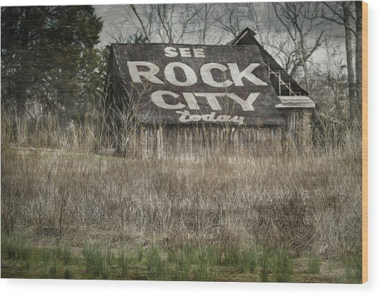 Rock City Wood Print