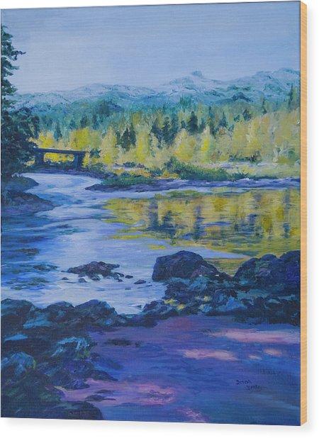 Rock Creek Fishing Hole Wood Print