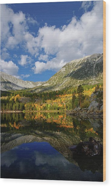 Rock Creek Lake Reflection Eastern Sierra Wood Print