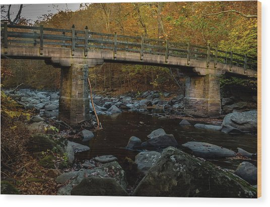 Rock Creek Park Bridge Wood Print