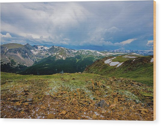 Rock Cut 2 - Trail Ridge Road Wood Print