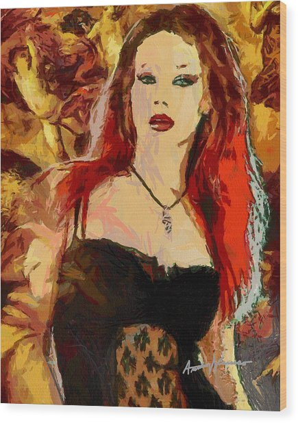 Rock Diva Wood Print by Anthony Caruso