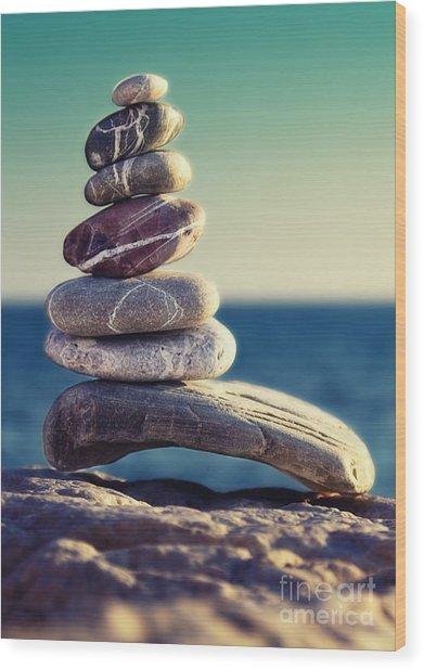 Rock Energy Wood Print