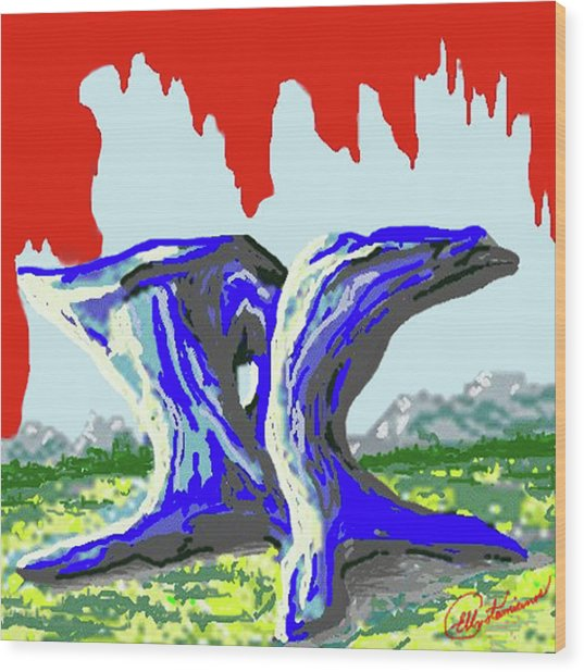 Rock Formations Wood Print