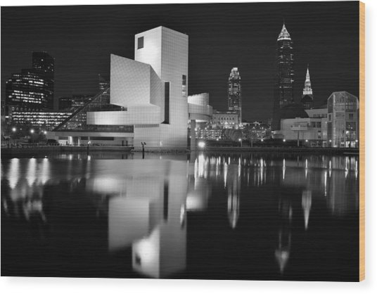 Rock Hall Reflections Wood Print