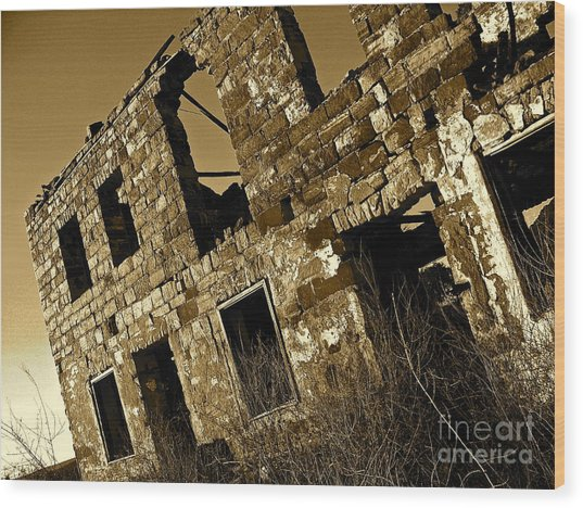 Rock House Ruins Wood Print by Chuck Taylor