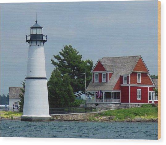 Rock Island Lighthouse July Wood Print
