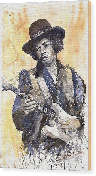 Rock Jimi Hendrix 02 Wood Print