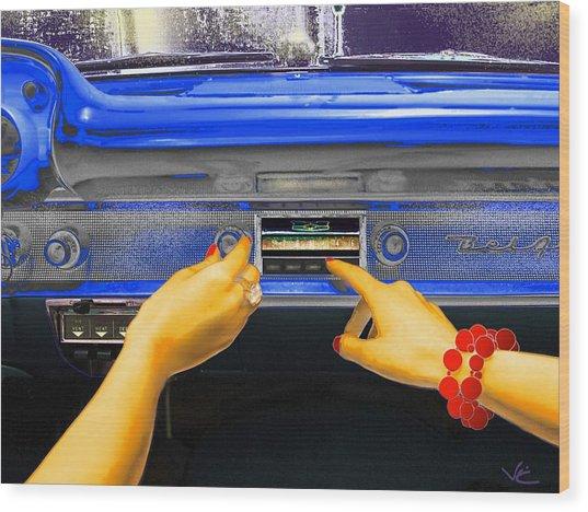 Rock N Roll Radio Wood Print
