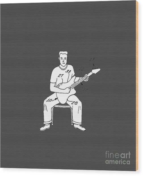 Rock On Dude Wood Print