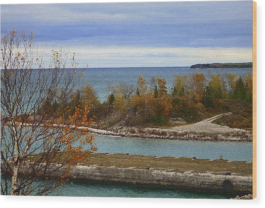 Rock Port In Alpena Michigan Wood Print