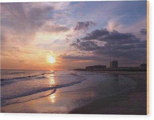 Rock Rock Rockaway Beach Wood Print