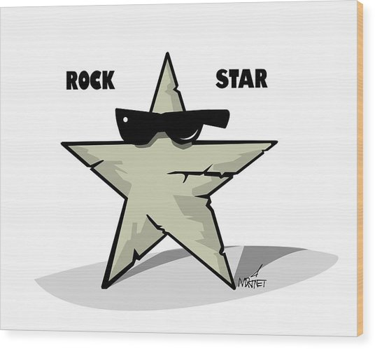 Rock Star Wood Print