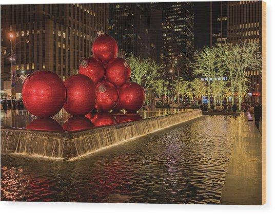 Rockefeller Center  Wood Print