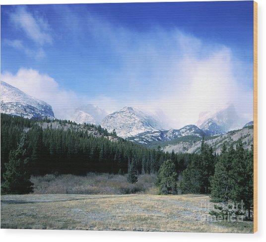 Rockies Wood Print