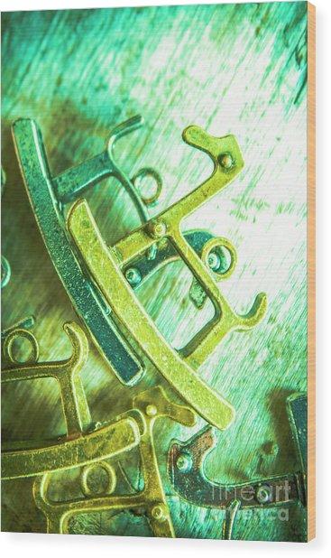 Rocking Horse Metal Toy Wood Print