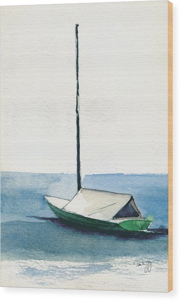 Rockport Boat Study Wood Print
