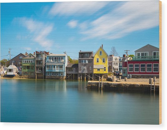 Rockport Dock Wood Print