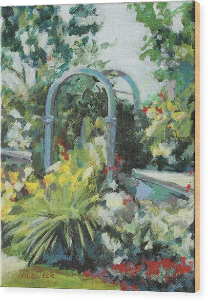Rockport Garden Gate Wood Print