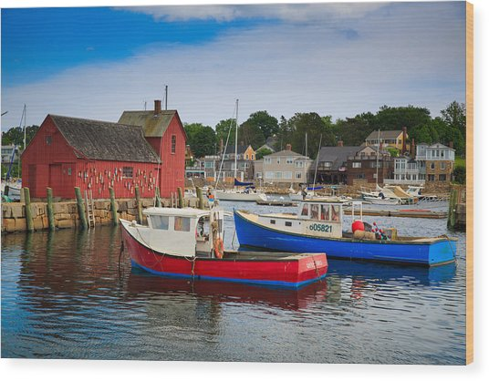 Rockport Harbor 2 Wood Print