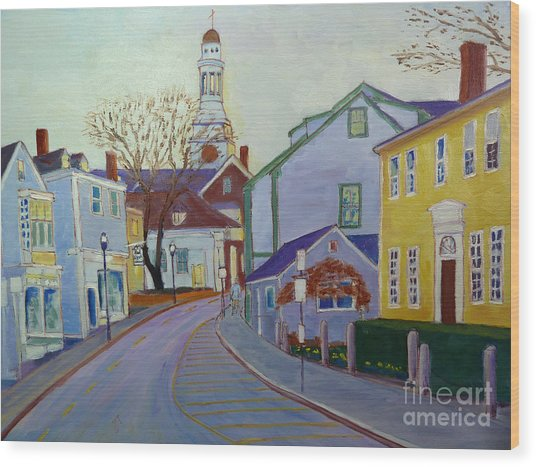 Rockport  Mass Wood Print