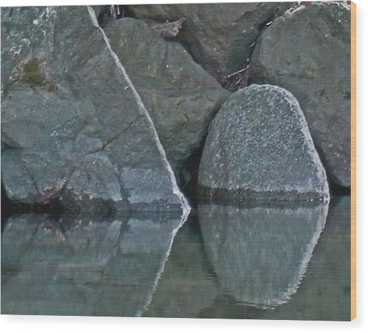 Rocks Wood Print by Wilbur Young