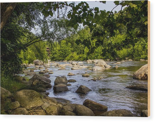 Rocky Broad River Wood Print