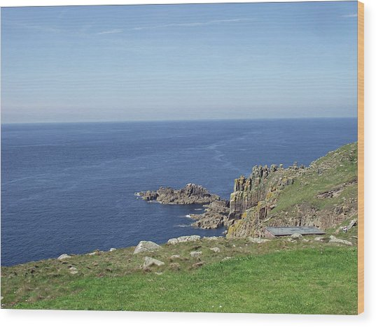 Rocky Coastline At Land's End Wood Print