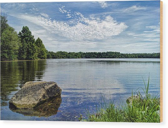 Rocky Fork Lake Wood Print