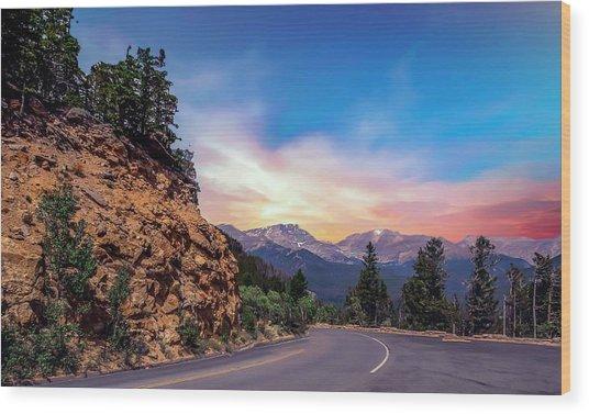 Rocky Mountain High Road Wood Print