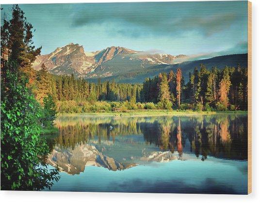 Rocky Mountain Morning - Estes Park Colorado Wood Print