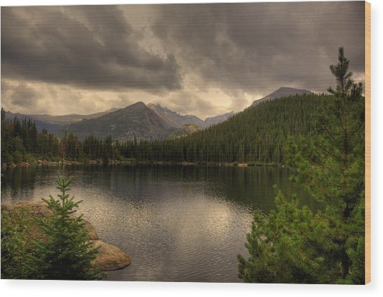 Rocky Mountain National Park Lake Wood Print by Patrick  Flynn
