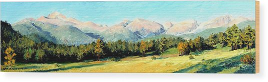 Rocky Mountain Panoramic Wood Print