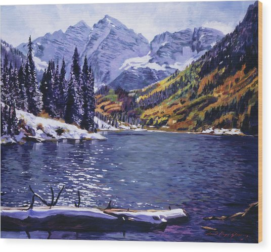 Rocky Mountain Serenity Wood Print
