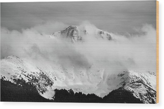 Rocky Mountain Snowy Peak Wood Print