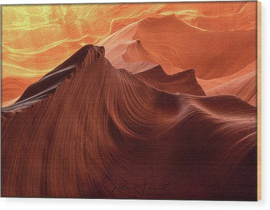 Rocky Mountain Sunrise Wood Print