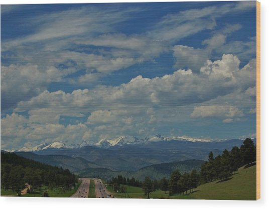 Colorado Rocky Mountain High Wood Print