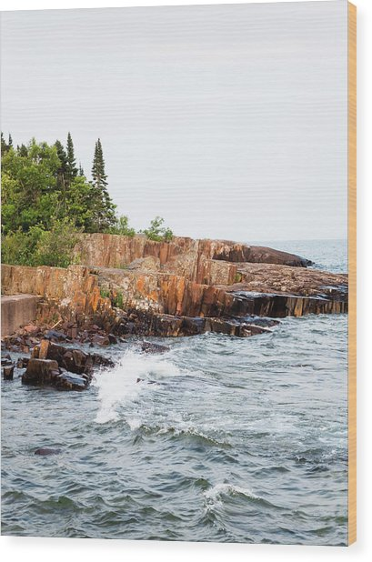 Wood Print featuring the photograph Rocky Shores by Whitney Leigh Carlson