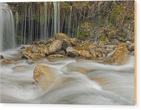Rocky Stream Wood Print