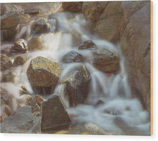 Rocky Water Wood Print