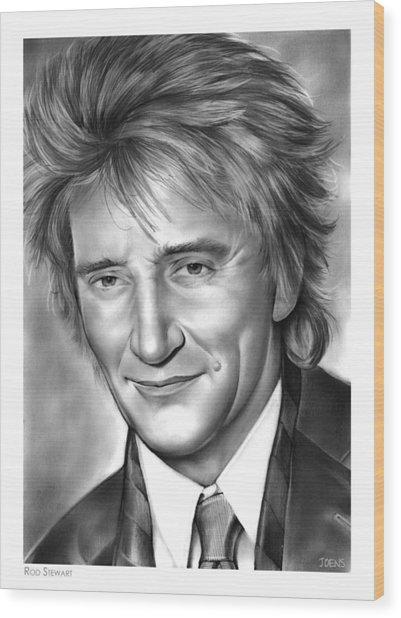 Rod Stewart Wood Print