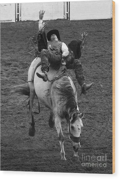 Rodeo Bareback Riding 13 Wood Print