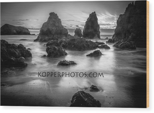 Rodeo Beach  Wood Print