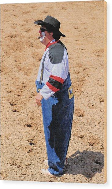 Rodeo Clowns Wood Print by Cheryl Poland